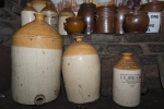 """Large jars, including one marked: """"William Boote, Paddington, Liverpool."""