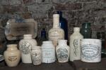 Assorted household bottles