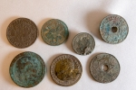 Assorted Coins and an 1880 Medal (middle Bottom)