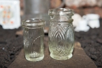 Two smal glass bottles