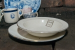 """""""Olive Hall"""" plate and saucer"""