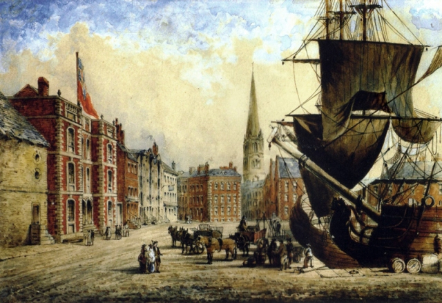 Liverpool docks, where Wiliamson's trade was focused