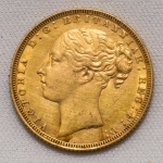 Front of 1871 Gold Sovereign