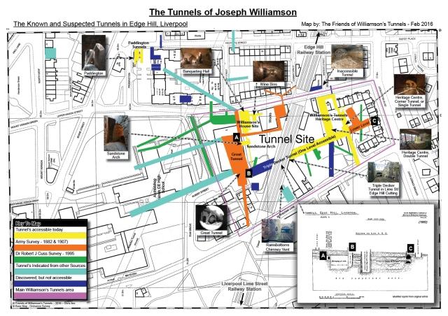 Edge Hill Tunnels Map